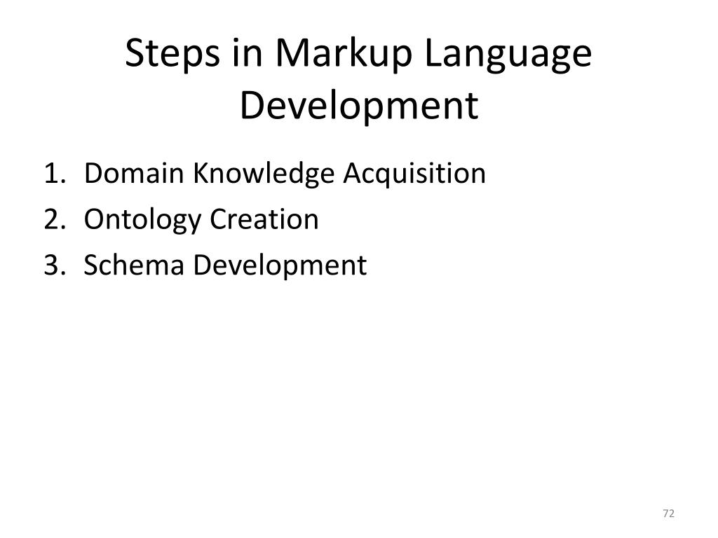 Steps in Markup Language Development