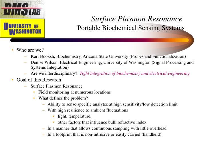 Surface Plasmon Resonance