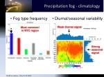 precipitation fog climatology