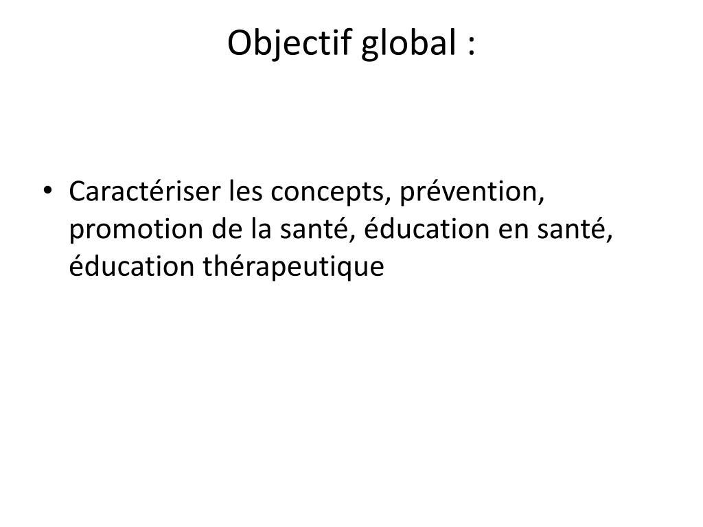 Objectif global :