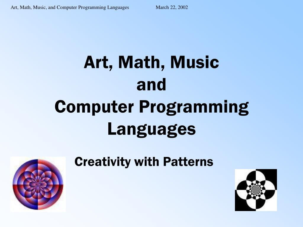 art math music and computer programming languages l.
