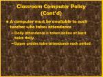 classroom computer policy cont d13