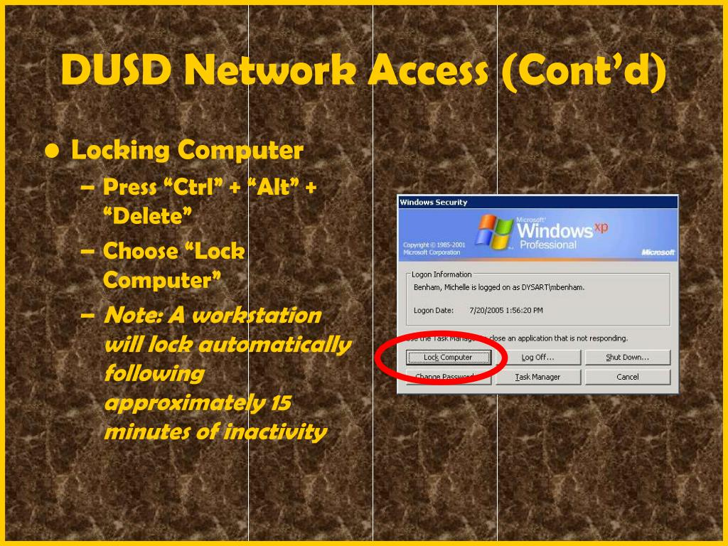 DUSD Network Access (Cont'd)