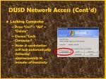 dusd network access cont d17