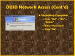 dusd network access cont d18