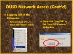 dusd network access cont d19