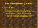 file management cont d34