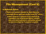 file management cont d35