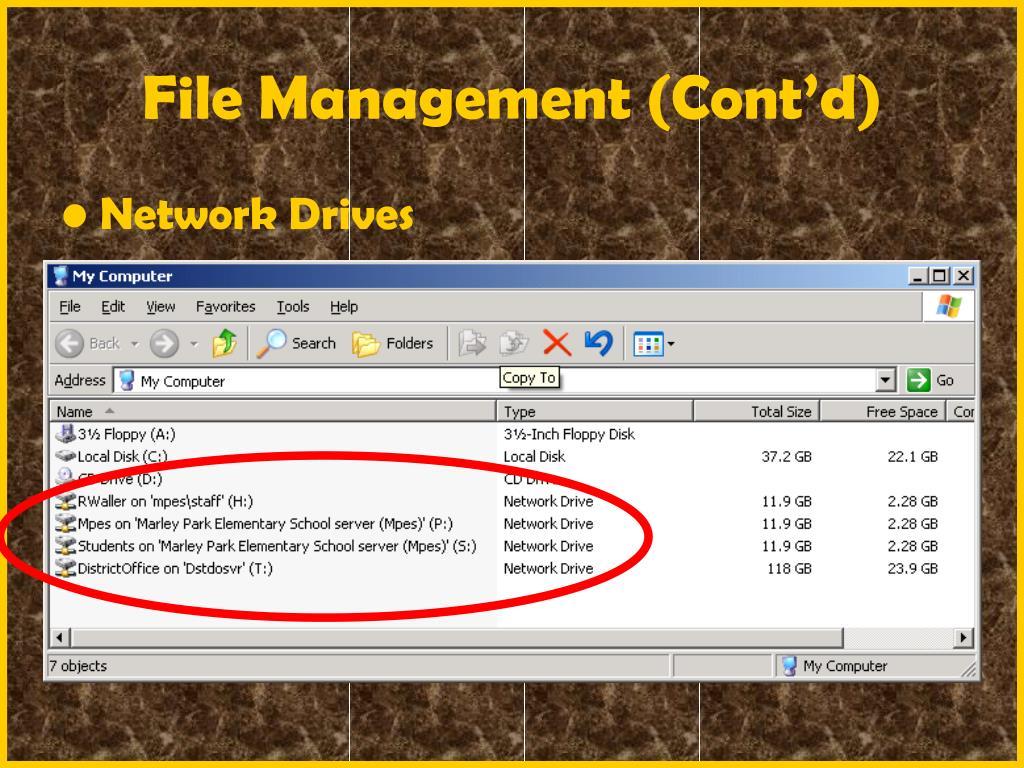 File Management (Cont'd)