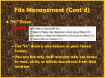 file management cont d39
