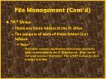 file management cont d42