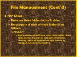 file management cont d43