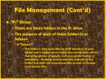 file management cont d44