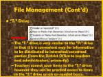 file management cont d47