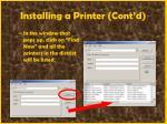 installing a printer cont d64