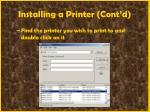 installing a printer cont d65