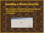 installing a printer cont d66