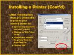 installing a printer cont d67