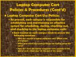 laptop computer cart policies procedures cont d
