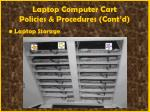 laptop computer cart policies procedures cont d53
