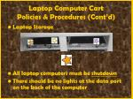 laptop computer cart policies procedures cont d54