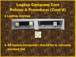laptop computer cart policies procedures cont d55