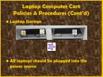 laptop computer cart policies procedures cont d56