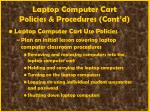 laptop computer cart policies procedures cont d58