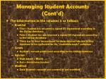 managing student accounts cont d28