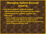 managing student accounts cont d30