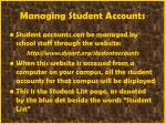 managing student accounts