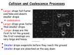collision and coalescence processes