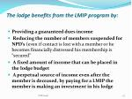the lodge benefits from the lmip program by