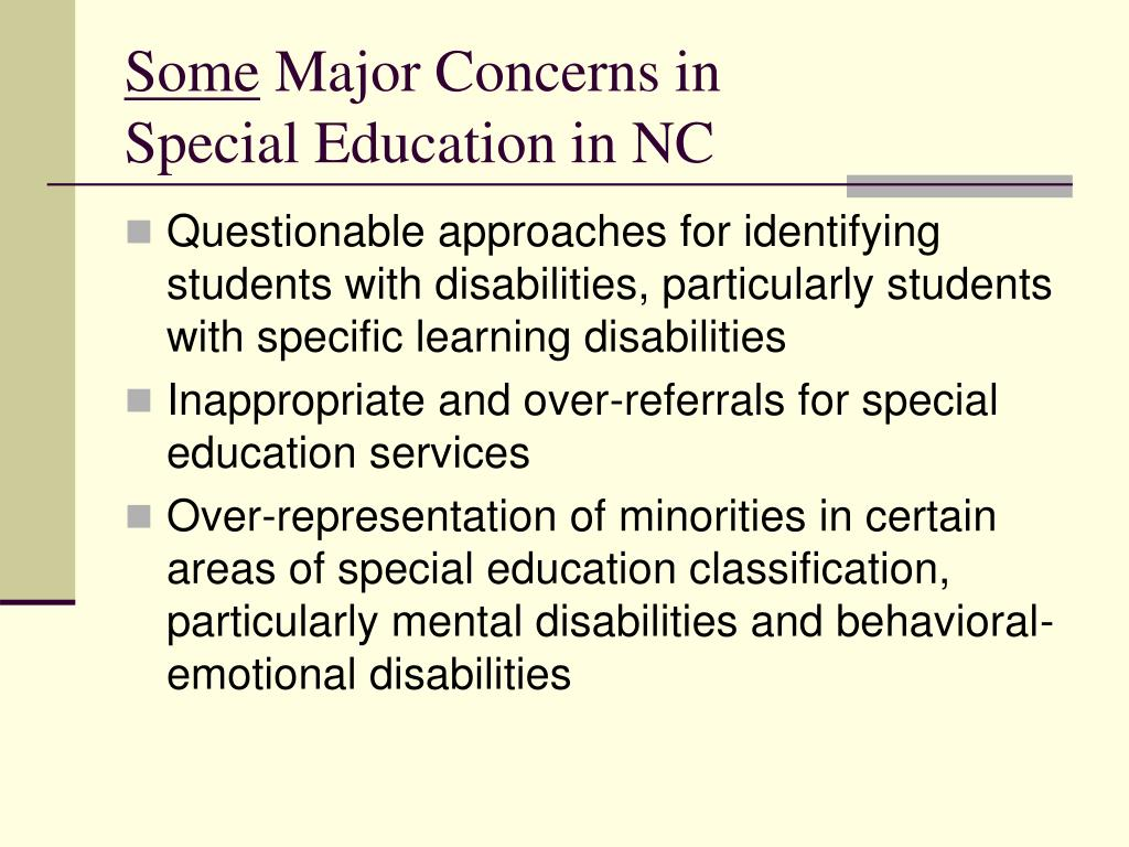 minorities in special education essay Minorities and special education major federal laws that govern the education of children with disabilities require that a significant effort be made to find.