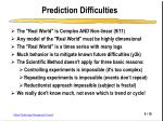 prediction difficulties