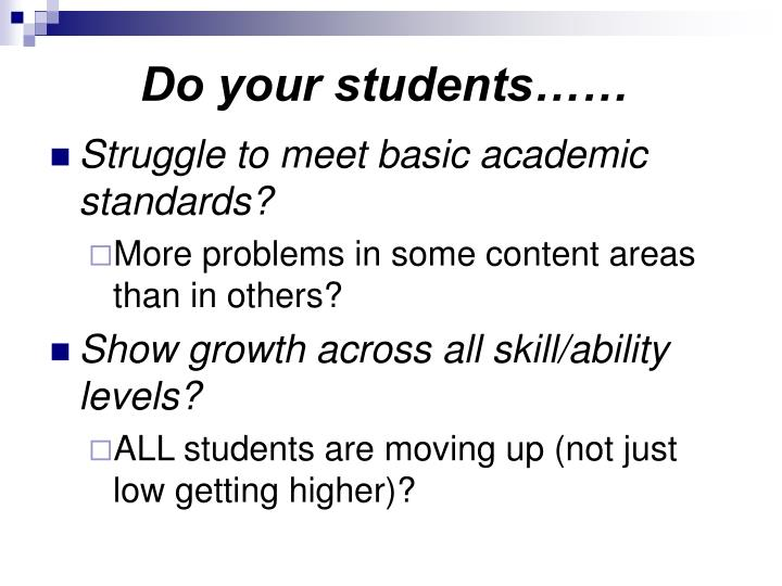Do your students……