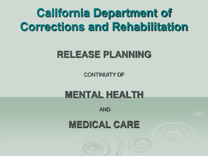 california department of corrections and rehabilitation n.