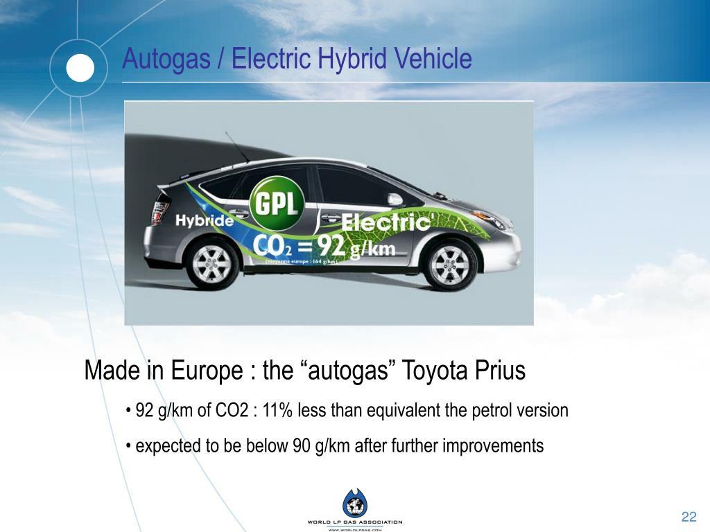 Autogas / Electric Hybrid Vehicle