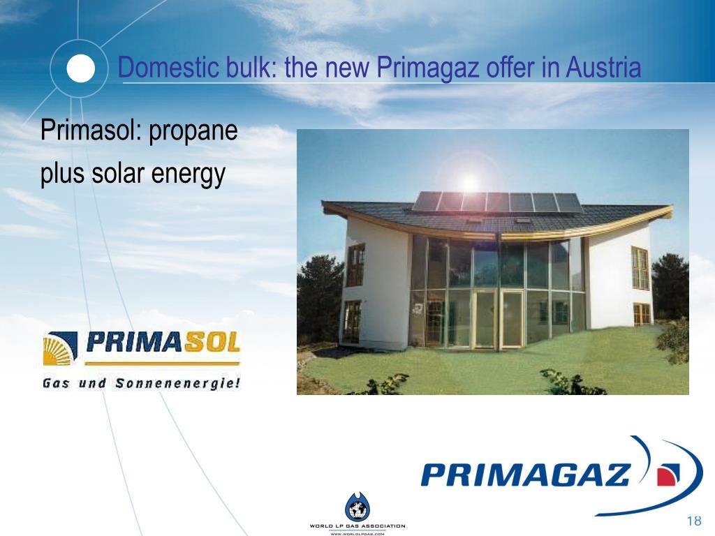 Domestic bulk: the new Primagaz offer in Austria