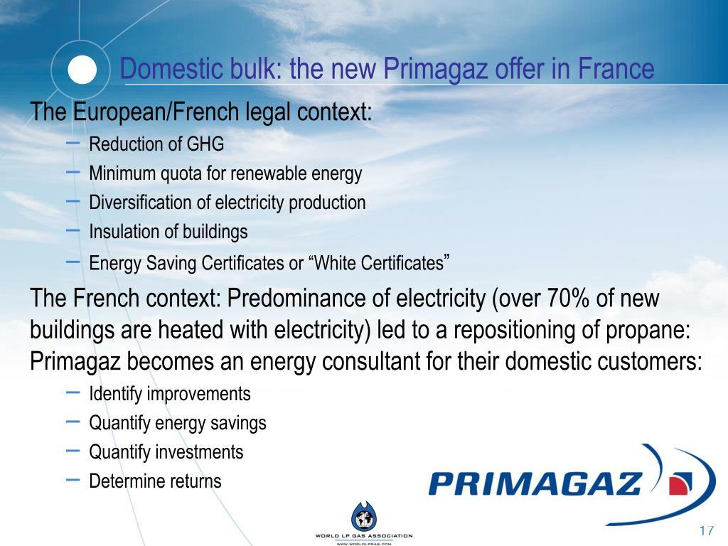 Domestic bulk: the new Primagaz offer in France