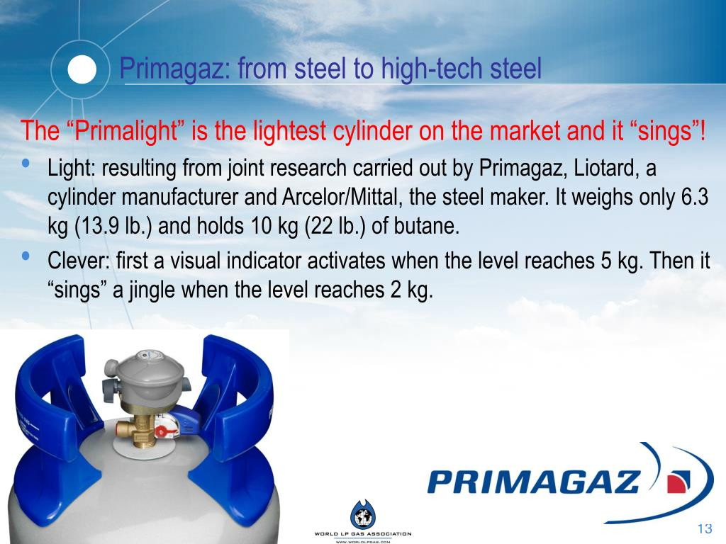 Primagaz: from steel to high-tech steel