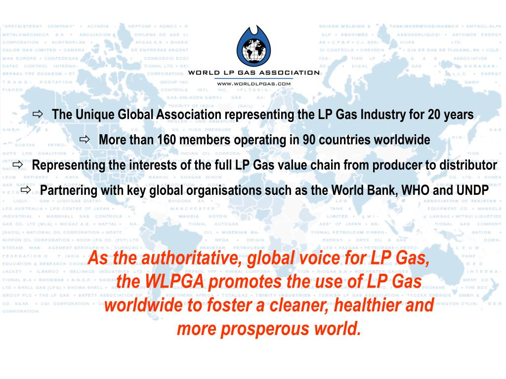 The Unique Global Association representing the LP Gas Industry for 20 years