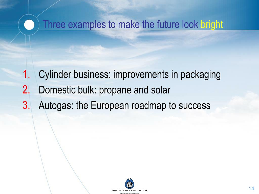 Three examples to make the future look
