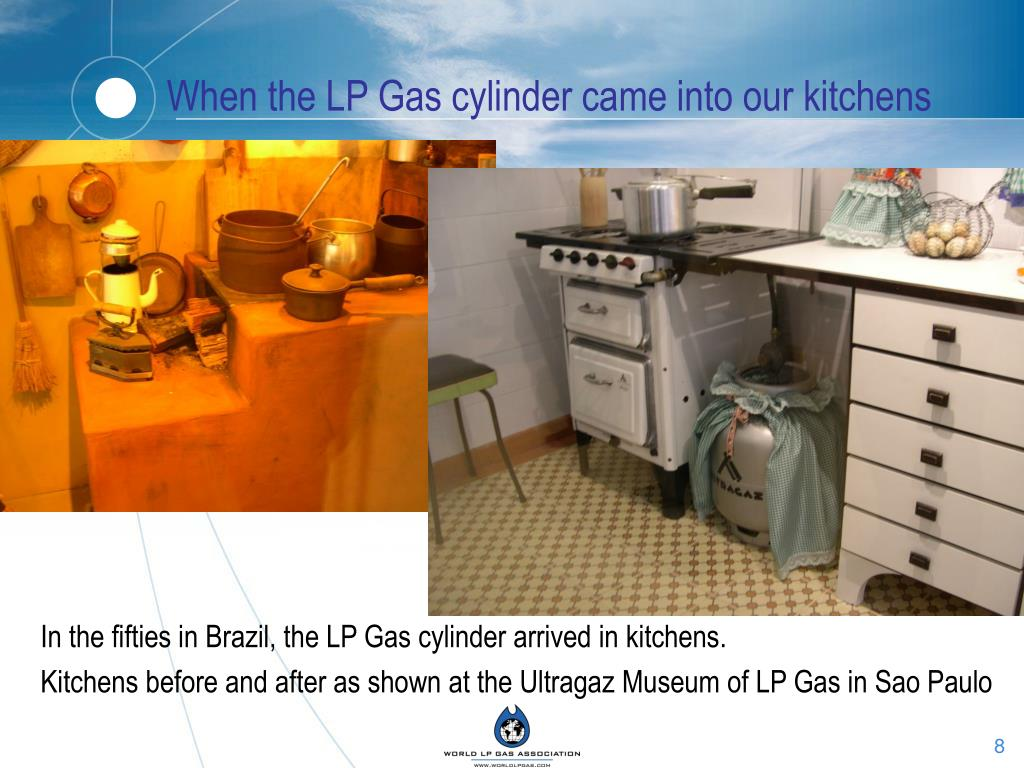 When the LP Gas cylinder came into our kitchens