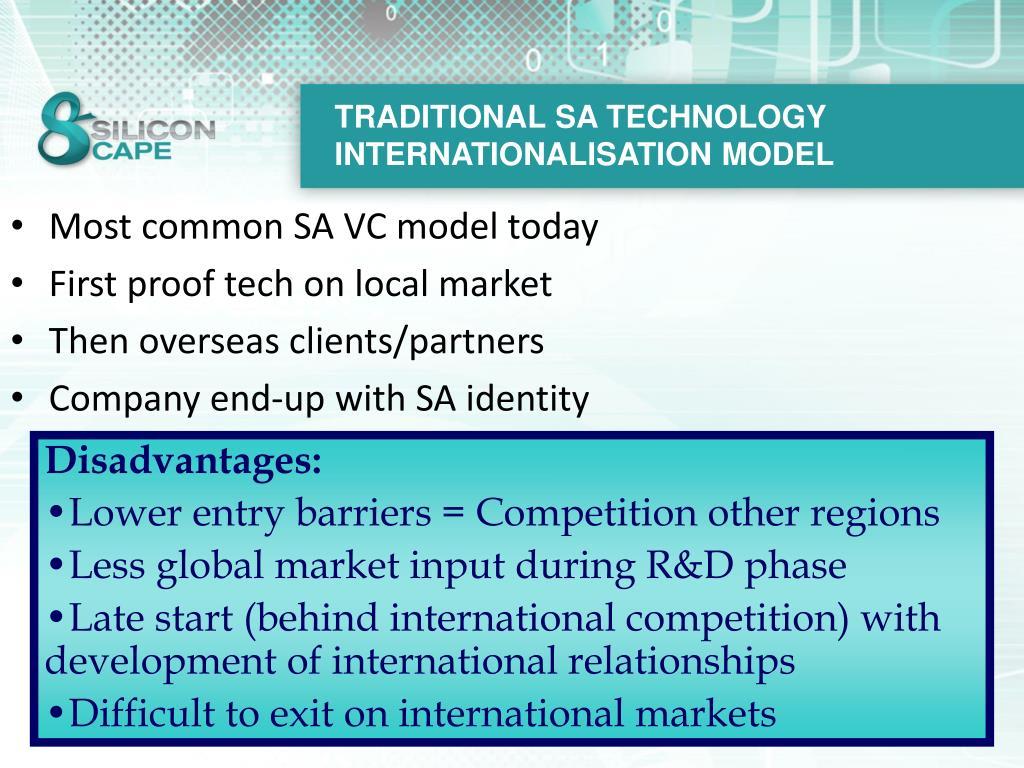 TRADITIONAL SA TECHNOLOGY INTERNATIONALISATION MODEL