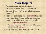 more help