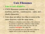 unix filenames
