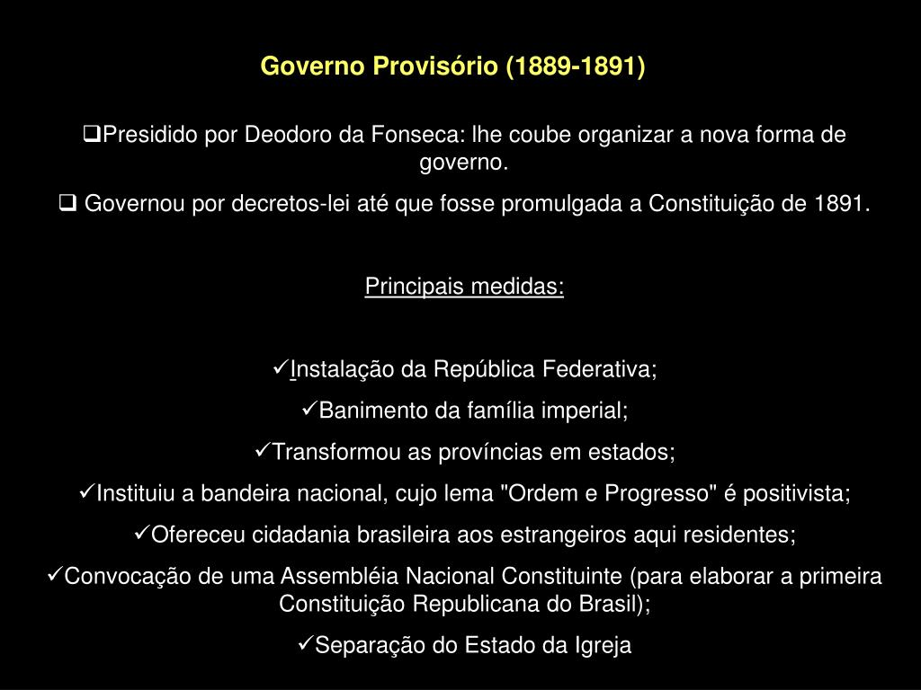 A Primeira Bandeira Do Brasil Republica ppt - causas da proclamação da república brasileira