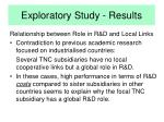 exploratory study results11