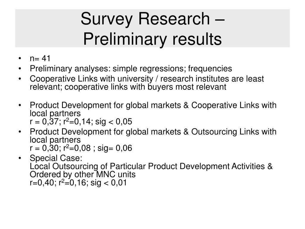 Survey Research –